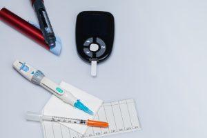 Ausstattung fr hometesting Blutzucker bei Diabetes einer Katze